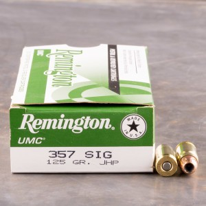 50rds - 357 Sig Remington UMC 125gr. Hollow Point Ammo