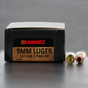 20rds – 9mm Barnes VOR-TX 115gr. XPB Ammo