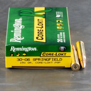 20rds - 30-06 Remington 150gr. Core-Lokt PSP Ammo