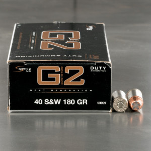 50rds – 40 S&W Speer LE Gold Dot G2 180gr. JHP Ammo