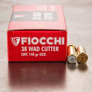 1000rds - 38 Special Fiocchi 148gr Lead Wadcutter Ammo