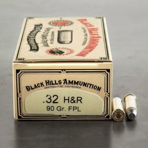 50rds - 32 H&R Magnum Black Hills Cowboy 90gr. Flat Point Lead Ammo