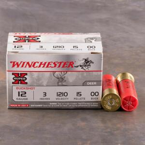 """15rds - 12ga Winchester Super-X 3"""" 15 Pell. 00 Magnum Buckshot"""