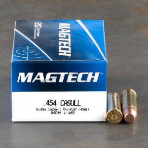 20rds - 454 Casull Magtech 260gr. FMJ Flat Point Ammo