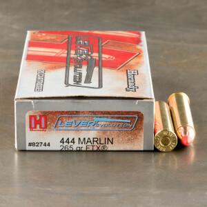 20rds - 444 Marlin Hornady 265gr. LEVERevolution FTX Ammo