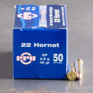 50rds - 22 Hornet Prvi Partizan 45gr. Soft Point Ammo