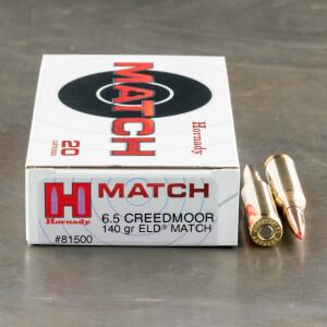 200rds – 6.5 Creedmoor Hornady 140gr. ELD Match Ammo