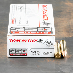 20rds – 350 Legend Winchester USA 145gr. FMJ Ammo