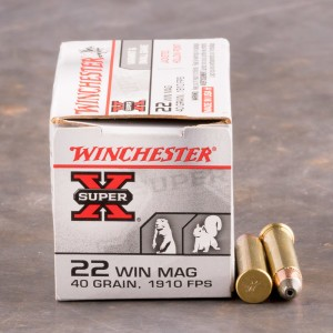 50rds - 22 Mag Winchester Super-X 40gr. Hollow Point Ammo