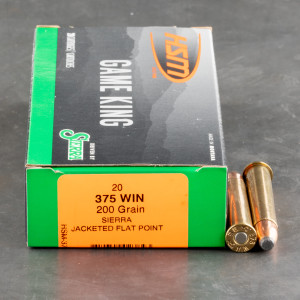 20rds – 375 Win HSM Game King 200gr. Pro-Hunter JFP Ammo