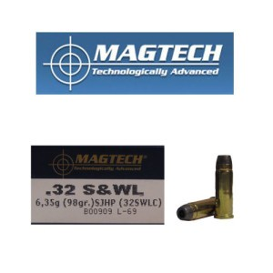 50rds - 32 S&W Long Magtech 98gr. Semi-Jacketed Hollow Point Ammo