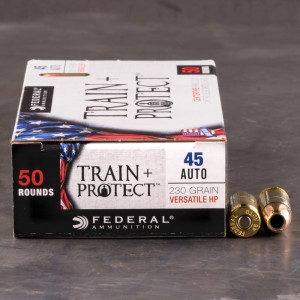 50rds - 45 ACP Federal Train + Protect 230gr. VHP Ammo