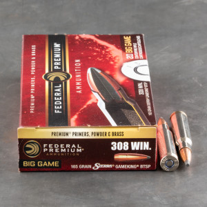 20rds – 308 Win Federal 165gr. GameKing BTSP Ammo