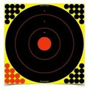 """1 - Birchwood Casey Shoot N C Target 17.25"""" Bullseye 5 Pack"""