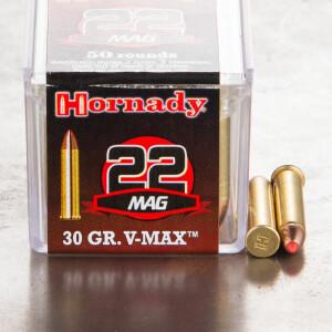 500rds - 22 Mag Hornady 30gr. V-MAX Polymer Tip Ammo