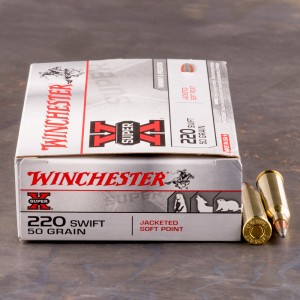 20rds - 220 Swift Winchester 50gr. SuperX Pointed Soft Point Ammo
