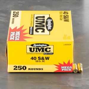 1000rds - 40 S&W Remington UMC 180gr. Ammo