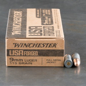 1000rds – 9mm Winchester USA Forged 115gr. FMJ Ammo