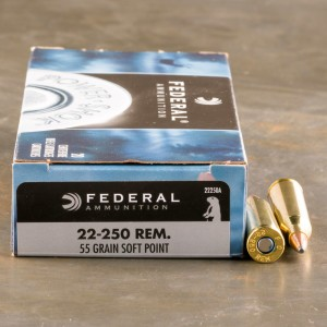 20rds - 22-250 Federal 55gr. Power-Shok Soft Point Ammo