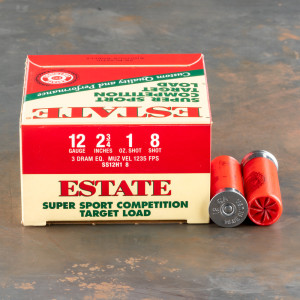 "250rds – 12 Gauge Estate Super Sport Competition Target 2-3/4"" 1oz. #8 Shot Ammo"