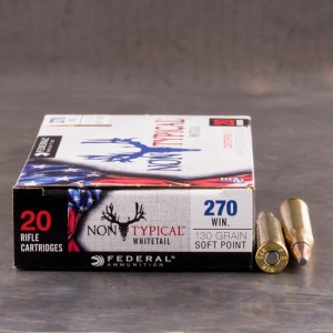 20rds - 270 Win Federal Non-Typical Whitetail 130gr. Non-Typical SP Ammo