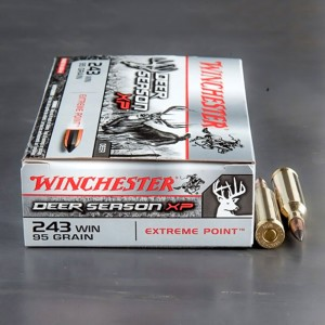 20rds - 243 Winchester Deer Season XP 95gr Polymer Tipped Ammo