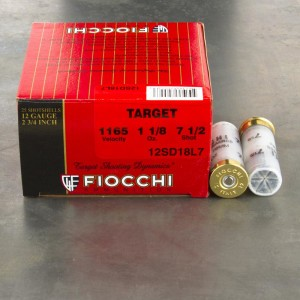 25rds - 12 Gauge Fiocchi Target Shooting Dynamics 1 1/8oz. #7 1/2 Shot Ammo 2 3/4
