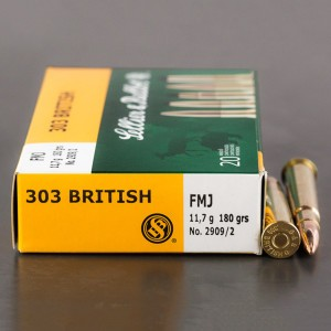 20rds - 303 British Sellier & Bellot 180gr. FMJ Ammo
