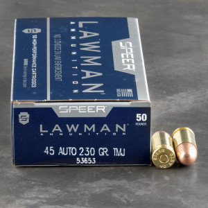 Speer Ammo for Sale - Lawman, Gold Dot and More Pistol Rounds for Sale