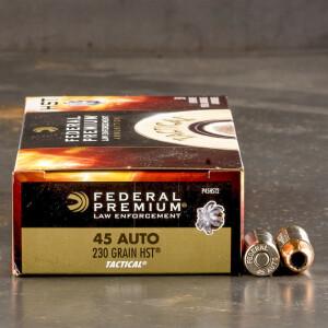 1000rds - 45 ACP Federal Premium Law Enforcement HST 230gr. JHP Ammo