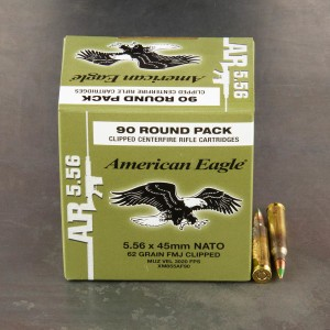 90rds – 5.56 Federal American Eagle AR 62gr. Clipped M855 FMJ Ammo