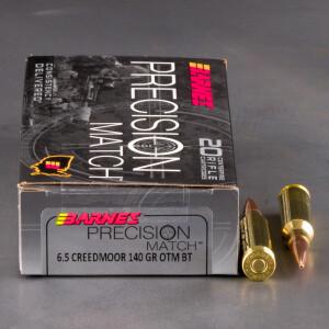 20rds – 6.5 Creedmoor Barnes Precision Match 140gr. OTM BT Ammo
