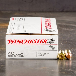 500rds - 40 S&W Winchester USA 180gr. FMJ Ammo