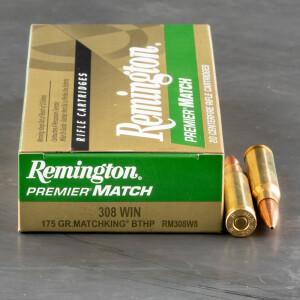 20rds - 308 Win. Remington 175gr. Premier MatchKing BTHP Ammo