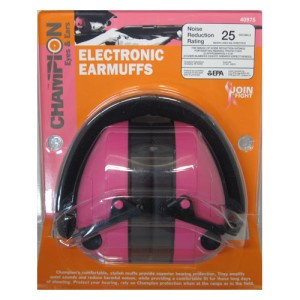 1 - Champion Electronic Earmuffs Black/Pink