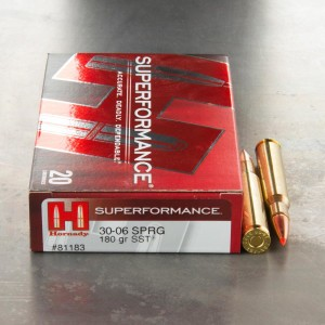 20rds - 30-06 Hornady Superformance 180gr. SST Ammo