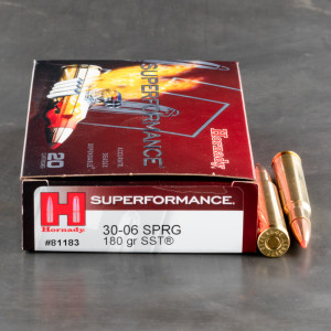 20rds - 30-06 Hornady Superformance 180gr. SST Ammo