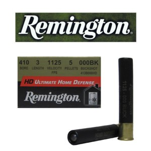 "15rds - 410 Gauge Remington Ultimate Home Defense 3"" 5 Pellet 000 Buckshot Ammo"