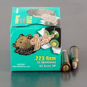20rds - 223 Brown Bear 62gr. Soft Point Ammo