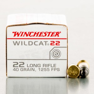 5000rds - 22LR Winchester Wildcat 40gr. High Velocity RN Ammo