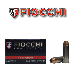 25rds - 44 Mag Fiocchi 240gr XTP Jacketed Hollow Point Ammo