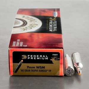 20rds – 7mm WSM Federal 160gr. Trophy Bonded Tip Ammo
