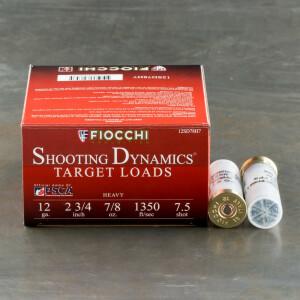 "250rds - 12ga Fiocchi 2 3/4"" 7/8oz. #7.5 Shot Target Load"