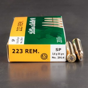 20rds - .223 Sellier & Bellot 55gr. SP Ammo