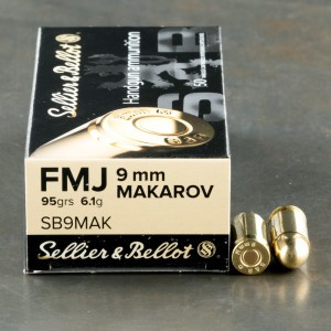 1000rds - 9x18 Makarov Sellier & Bellot 95gr FMJ Ammo