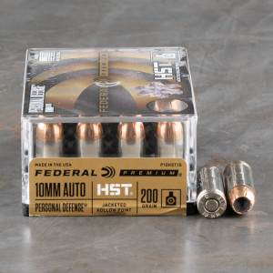 20rds – 10mm Federal Personal Defense HST 200gr. JHP Ammo