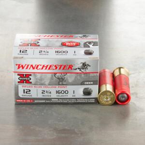 "15rds - 12 Gauge Winchester Super-X  2 3/4"" Magnum 1oz. Rifled Slug Ammo"