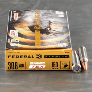 200rds – 308 Win Federal 150gr. Barnes TSX Ammo