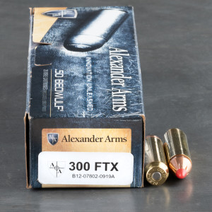 20rds – 50 Beowulf Alexander Arms 300gr. FTX Ammo