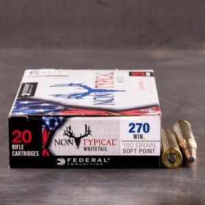 20rds - 270 Win Federal Non-Typical Whitetail 150gr. Non-Typical SP Ammo